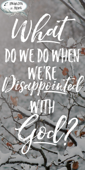 What do we do when we're disappointed with God?